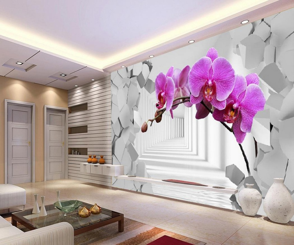 Custom photo wallpaper large 3d stereo romantic 3d flower for 3d wallpaper home decoration