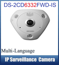 DS-2CD6332FWD-IS IP Camera 3MP 1080P WDR Fisheye Fish-eye 360 Panoramic View IR POE Network Camera IP CCTV Camera Card Slot