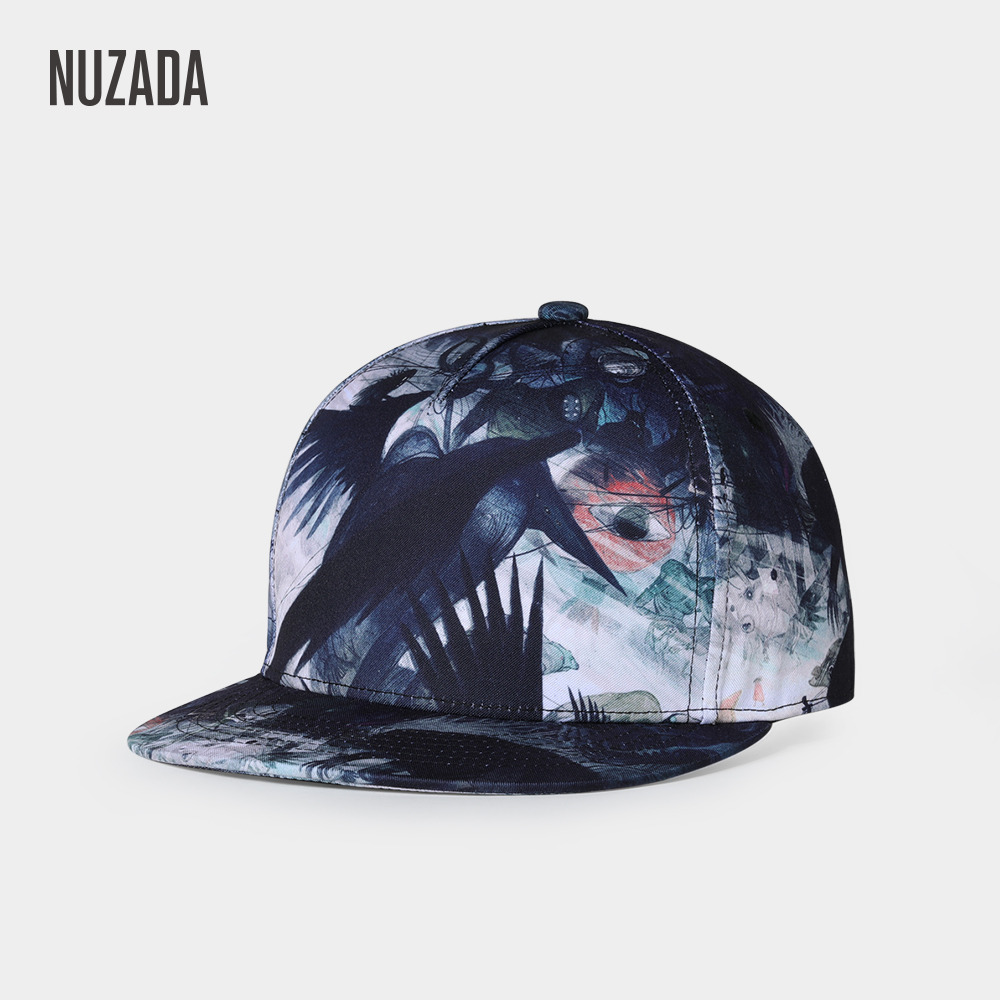 NUZADA 3D Print Men Women Hip Hop Cap Original Art Design Spring Summer Autumn Caps Street
