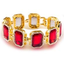 AliLujah WOMEN Bracelet Imitation Gemstone Bracelets Gold Plated Jewelry Bangle Bracelets 23 cm RBA001