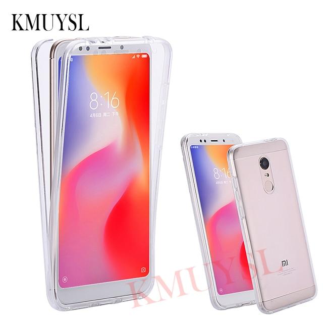 quality design 57abe 6ee99 360 Full Body Case For Xiaomi Redmi Note 5 5A 6 Pro 6A 4X Silicone Cover  For Xiaomi Mi A2 Lite A1 5X 6X 8 SE Redmi 5 Plus Capa