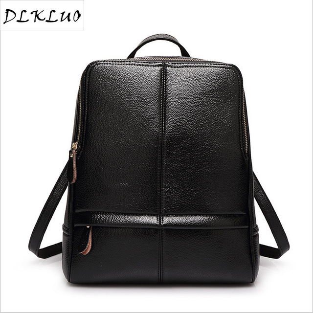 90b6d44e5002 Backpack female Korean fashion leather backpack bag new spring wind  institute one generation