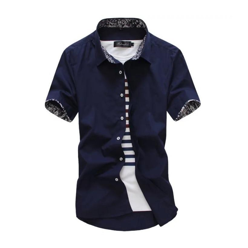 2019 új férfi póló márka nyári férfi ruha ing rövid ujjú - Férfi ruházat