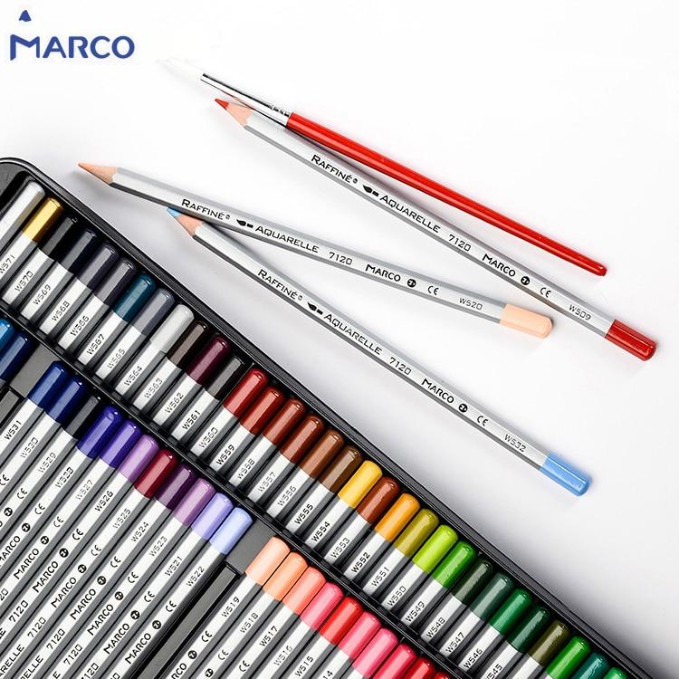 Marco Raffine 12/24/36/48/72 Colors Color Pencil Set Professional Watercolor Colored Pencils For Drawing Non-toxic Art Supplies