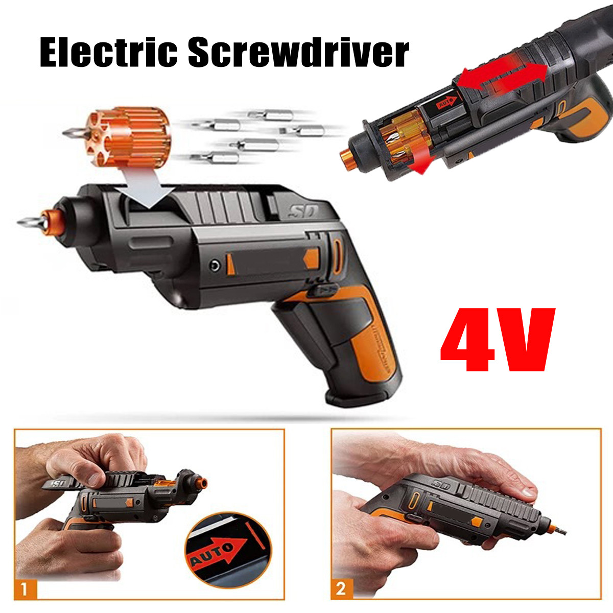 все цены на Electric Screwdriver 4V With Li-Ion Battery Rechargeable Cordless Household Multifunction For WORX Electric Drill Hand Tool онлайн