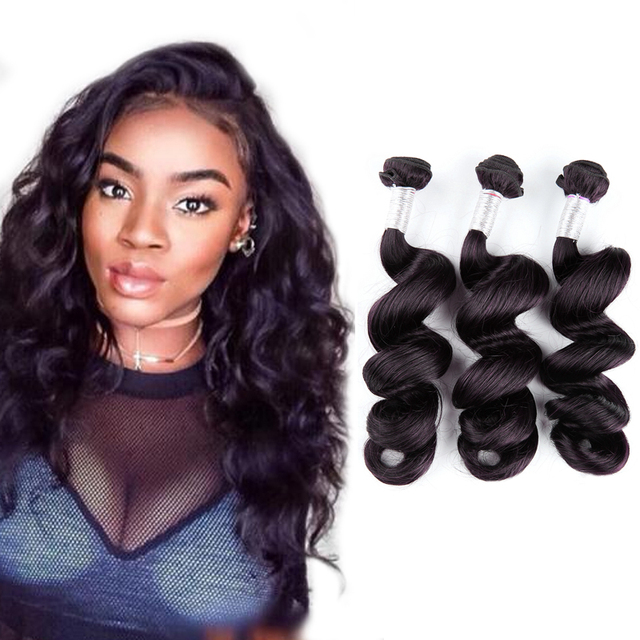 Hot Beauty Hair Peruvian Virgin Hair Loose Wave 3pcs/Lot human hair bundles hot beauty hair loose wave