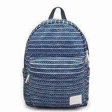 Мода Печать на холсте женщин/Женские/женщин/девочек цветочные Рюкзак Школьные сумки школьный bagback обратно мешок
