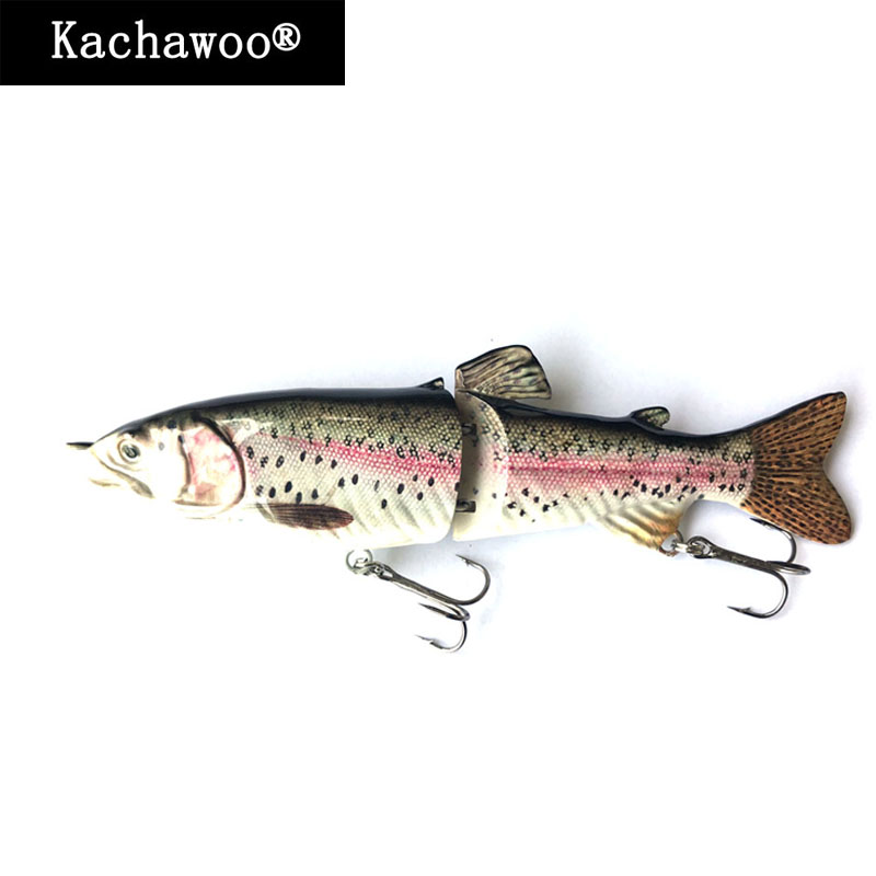 Fishing Swimbait Glide S Swimming 18cm 68g Hard Lure 2 Segment Jointed Artificial Rainbow Trout Fresh Water Fish Bait Slow Sink