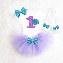62dc47a94a6 Baby Girl 1st First Birthday Outfits Mermaid Glitter Purple Ball Gown  Dresses for Girls Dress Shower
