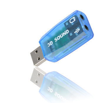 External USB Sound Card 5.1-Channel w/3.5mm Headphone and Microphone Jack Interface Computer Stereo Mic Audio USB Converter 5