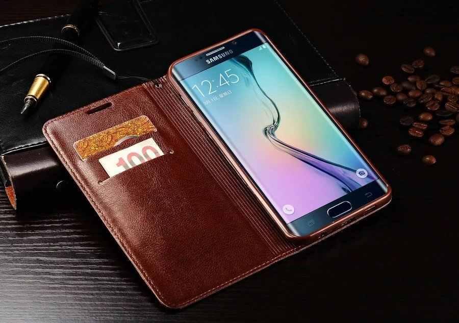Кожаный чехол для iPhone X 5 5S Se 6 6s 7 8 плюс samsung S6 S7 край S8 S9 Примечание 8 5 мягкий кошелек откидная крышка карты человек леди Smart сумка