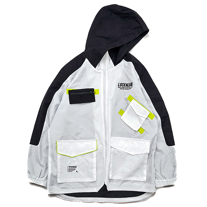 Aelfric Eden Winter Cargo Jacken Männer Taschen Casual Streetwear 2018 Patch Design Patchwork Jacke Outwear Beiläufige Mit Kapuze KJ73-in Jacken aus Herrenbekleidung bei  Gruppe 3