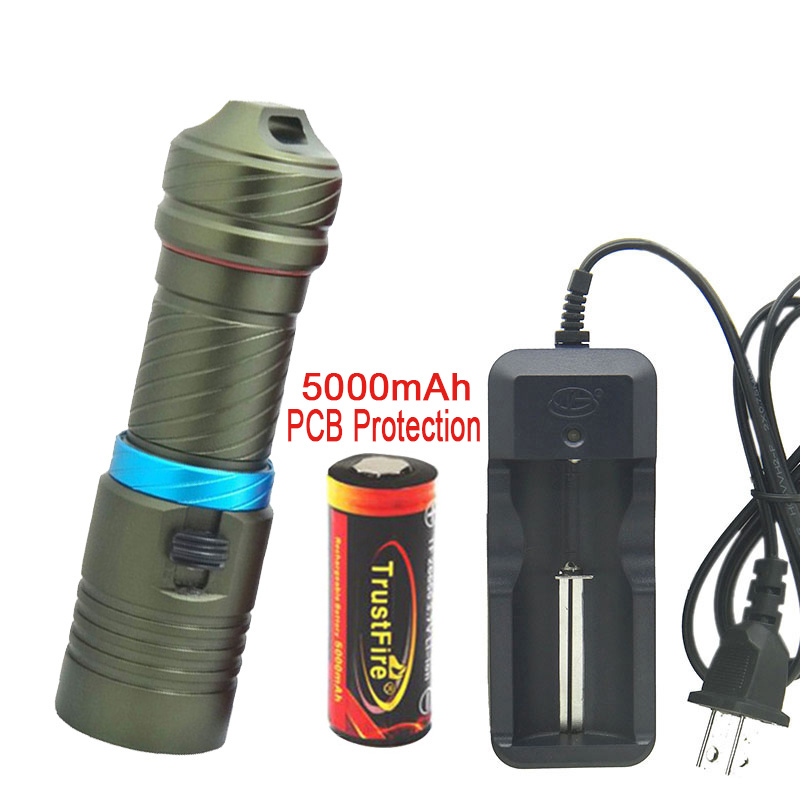 26650 Underwater 100M Torch CREE XM-L2 Scuba Diving 18650 flashlight LED Flash light dive lamp newest underwater scuba diving light 14000 lumen led torch cree 7 x xm l2 waterproof flashlight light for dive 26650 lanterna