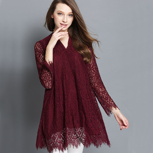 Sale Itemsnew Arrivals 2017 Spring Women Dress Long Sleeve Plus