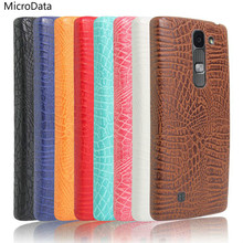 MicroData For LG G4c Magna 5.0 inch Luxury Crocodile Pattern Case On H522Y h502f C90 Y90 H502TV Hard PU Leather Phone Case
