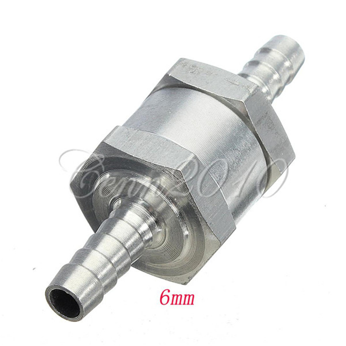6mm Aluminium Chrome Alloy Fuel Non Return Check Valve One Way Petrol For Diesel