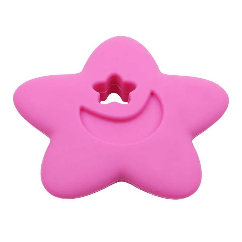 Высококачественная звезда силиконовая Прорезыватель для зубов Детская Подвеска в душ DIY соска-игрушка пищевой силикон для малышей молярный период