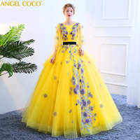 Vestido Debutante Gowns Ball Gown Quinceanera Dresses Cap Sleeve 3D Flowers Sweet 16 Dress Vestidos De 15 Anos robe de bal