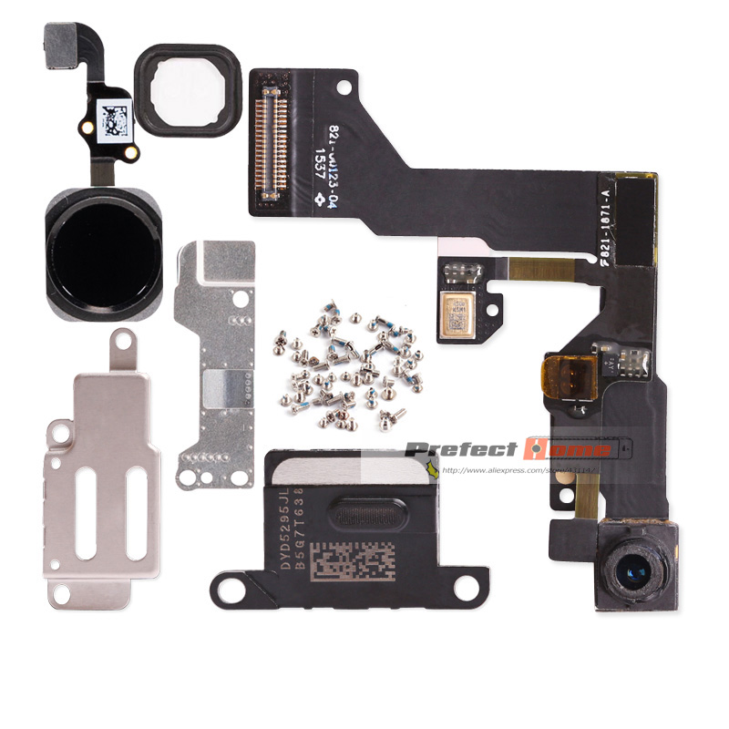 1set For iphone 6 6s Plus Home Button flex+front camera Sensor Proximity+earpiece+full screws+earpiece metal repair parts(China)
