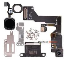 1 set iphone 6 6s Artı Ev Düğmesi flex + ön kamera Sensörü Yakınlık + kulaklık + tam vidalar + kulaklık metal tamir parçaları