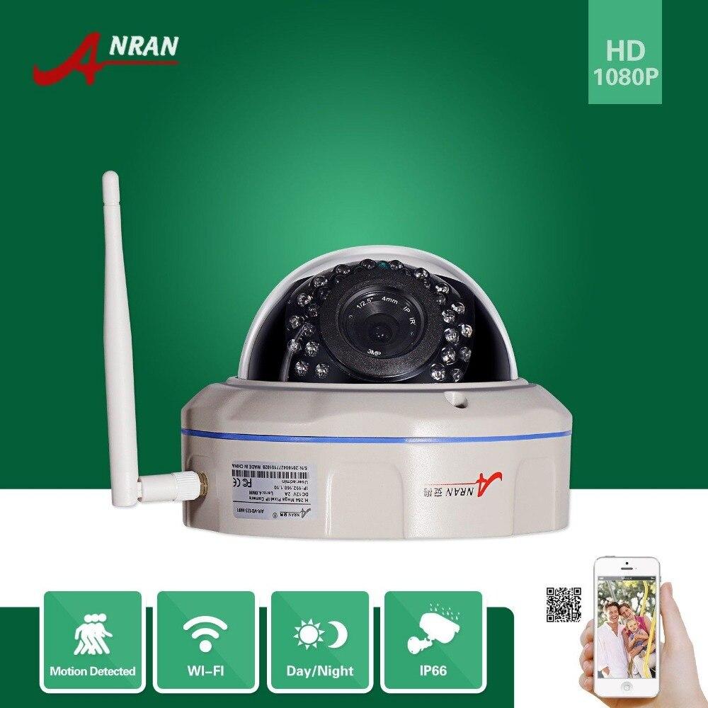 ANRAN Onvif H 264 1080P Wireless WIFI Network IP Camera SONY Sensor 1920x1080 25fps Vandalproof Dome