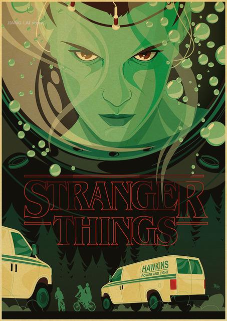 Stranger Things Propaganda Terror Posters Vintage Retro