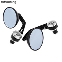 Mtsooning Round Motorcycle 7 8 Rear View Mirrors Motorbike Handle Bar End Rear View Mirrors Multicolor