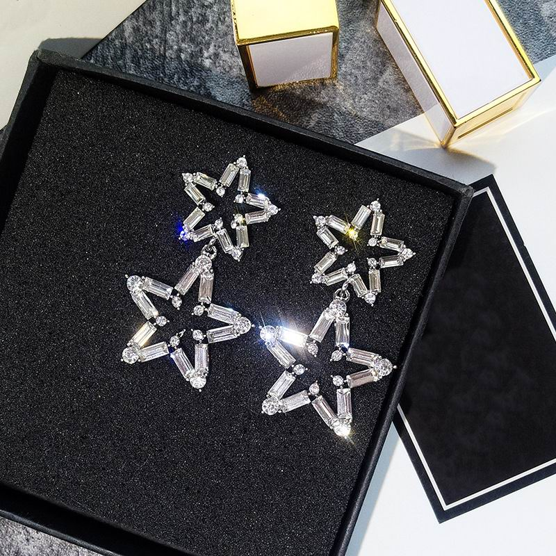 Luxury Big Star Drop Earrings For Women 19 New Rhinestone Party Statement Earrings Lucky Jewelry Korean Style 4