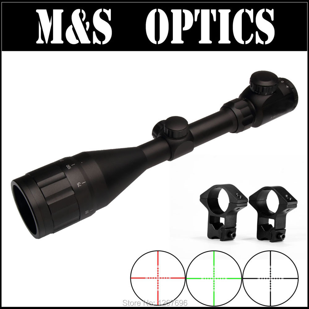 3-9X50 AOIR Red Greed Illuminated Airsoft AirRifles Optics Guns Sight Rifle Scopes For Hunting Riflescope 11mm / 20mm Ring Mount hunting red dot illuminated scopes for airsoft air guns riflescopes tactical reticle optics sight hunting luneta para rifle