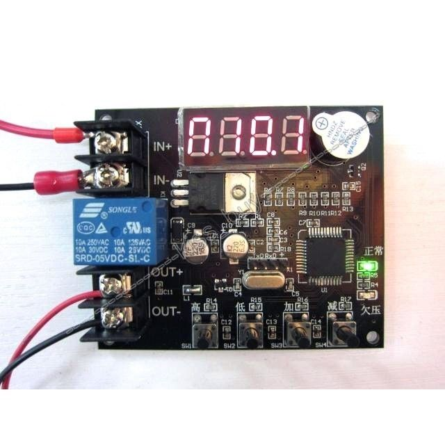US $10 89 6% OFF|dc 12V Battery Low Voltage Undervoltage Alarm Anti Over  Discharge Protection Board relay module-in Integrated Circuits from