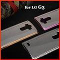 G 3 Luxo original de volta da bateria de silício silicone macio claro tpu casos de telefone celular de ouro da tampa do caso para lg g3 d851 d855 d850
