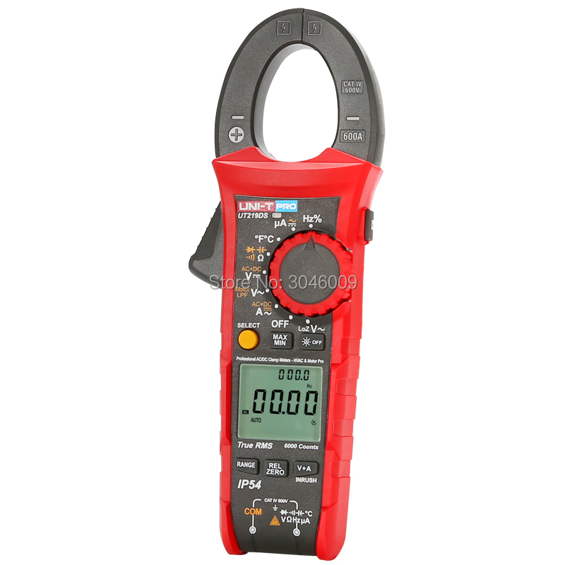 Image 4 - UNI T UT219DS true RMS Professional Clamp Meter; IP54 dust/waterproof digital ammeter, LoZ voltage measurementClamp Meters   -
