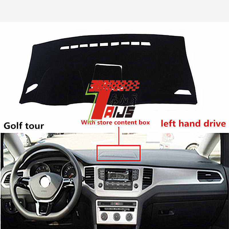 TAIJS Right hand drive car dashboard cover mat for Volkswagen Golf tour with store content box adumbral cover for Volkswagen