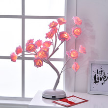 Colorful flower Decoration Round Ball table lamps for living room Led Bed lamp bedside light table light lamps Tafellamp bedroom(China)