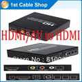Premium Multi-System HDMI/ composite AV to HDMI 720/1080p converter adapter box with coax&3.5mm stereo audio output