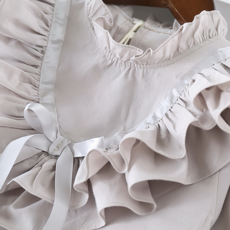 45-3-baby girl ruffles Solid blouses
