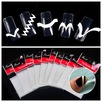 10 Packs French Manicure Nail Art Tip Guides Stickers DIY Women Makeup Tools For Nail Salon Маникюр
