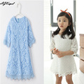 Hot 2016 Nueva Primavera Vestido De niña vestido de princesa Ropa de Niña Princesa Del Bebé Muchachas Atan el Vestido Formal de Los Niños vestidos