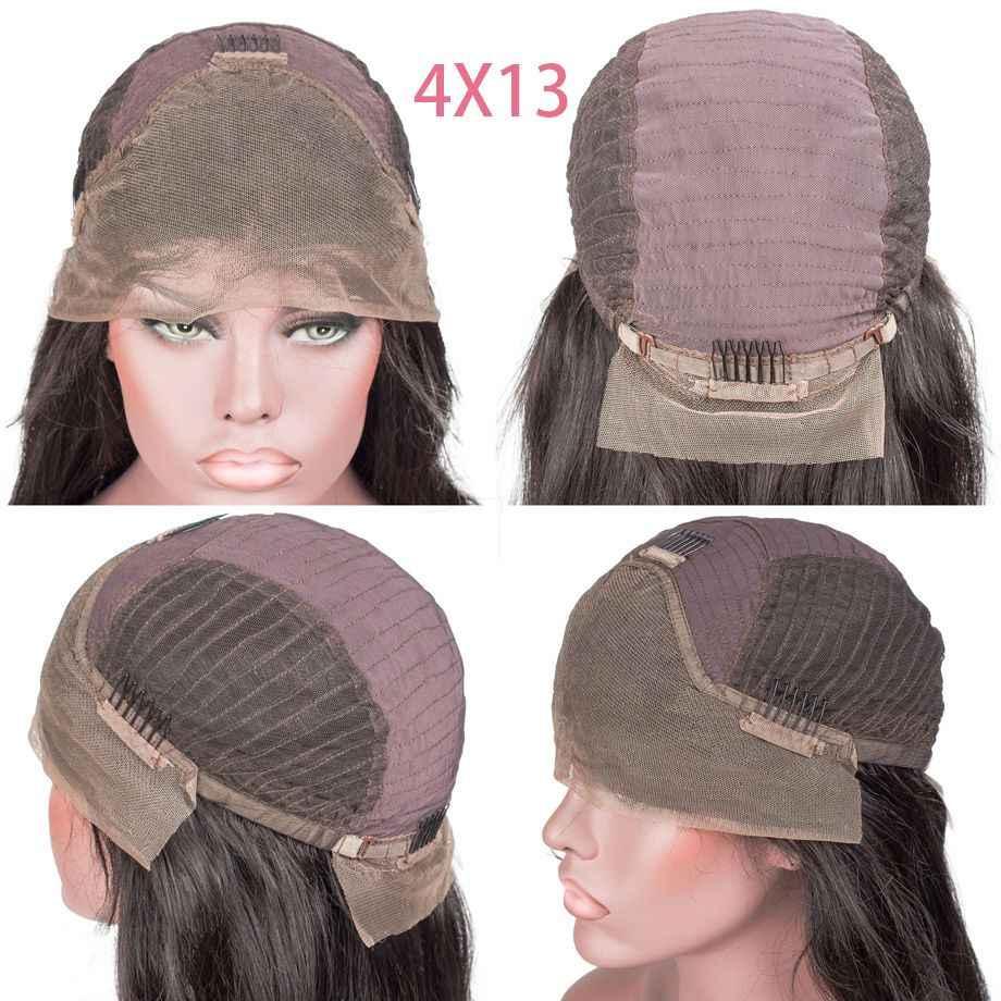 Koronkowa peruka z ludzkich włosów prosta peruka z naturalnych krótkich włosów bob peruka brazylijska koronkowa peruka z przodu dla czarnych kobiet remy włosy 13x4
