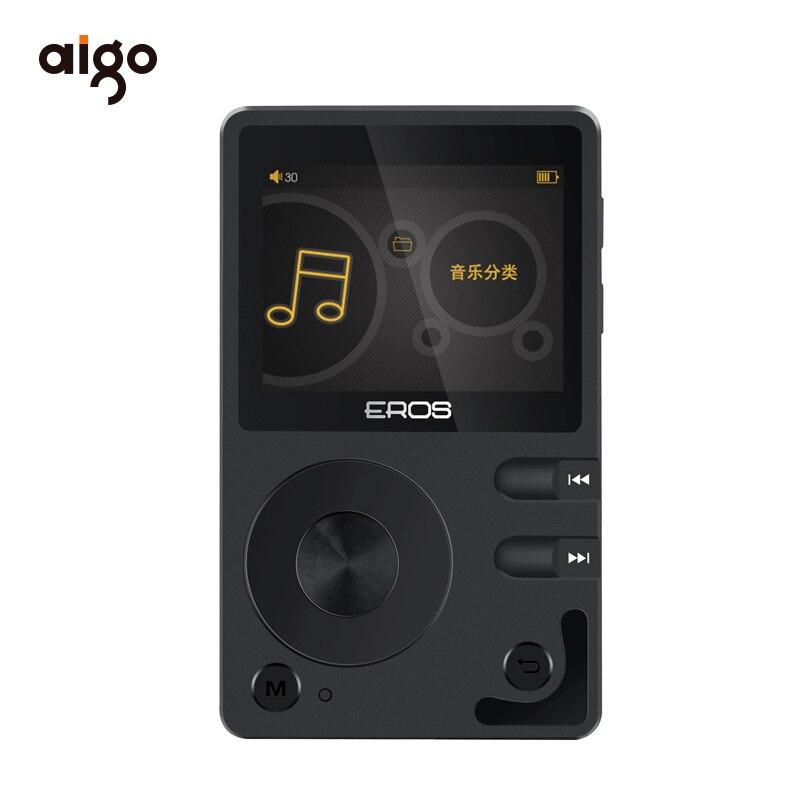 Aigo EROS Q DSD64 lecteur MP3 professionnel bluetooth 4.0 DAC sans perte Hifi lecteur de musique Audio Mini USB Support OTG + 8G TF