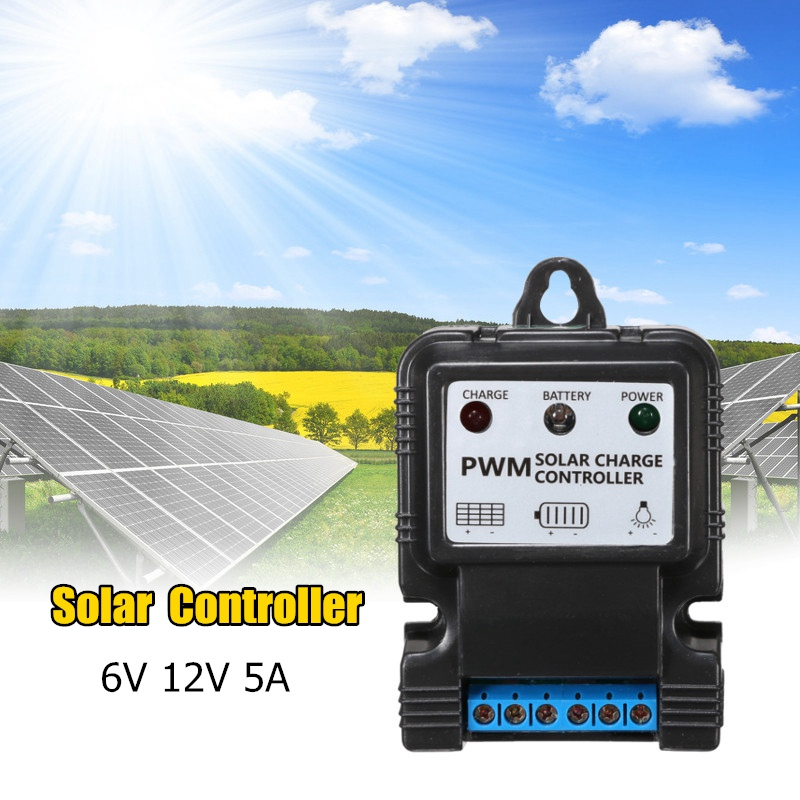 5A/10A Auto Solar Panel Charge Controller 12V/6V PWM Charge Solar Power Collector Regulator With Intelligent LED Indicator