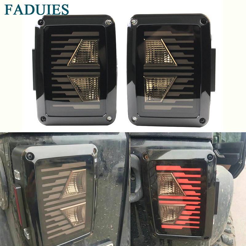 LED Tail Lights 2007-2017 for Jeep Wrangler JK with Brake Backup Reverse Yellow Arrow Turning Signal Light Tail Lamp Assembly multi diapers