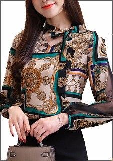 ᗖDingaozlz 3XL Plus size Women clothing Bow tie Chiffon