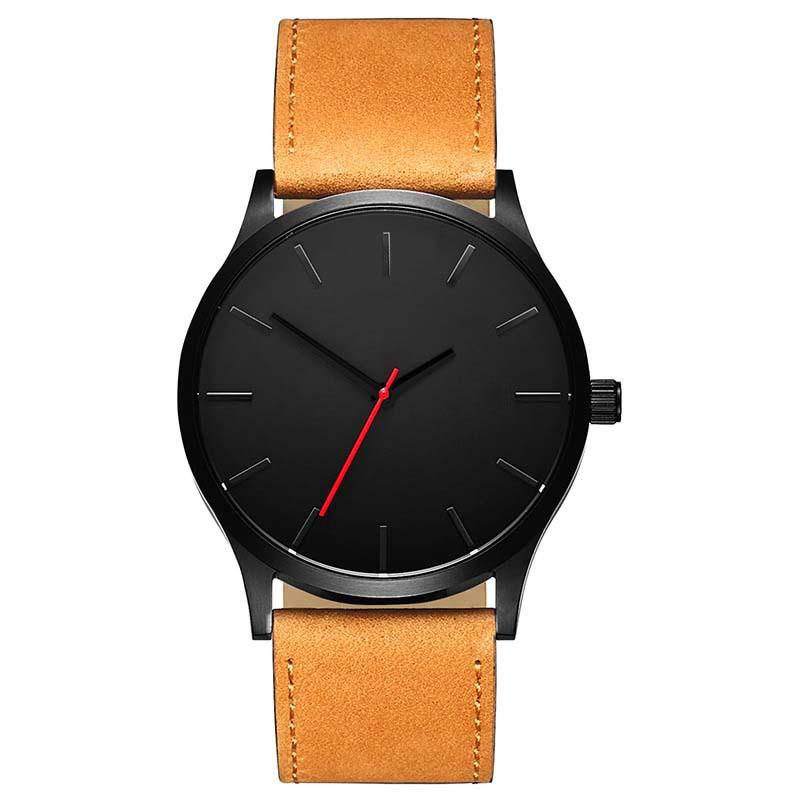 Часы мужские наручные с кожаным ремешком брендовые Роскошные