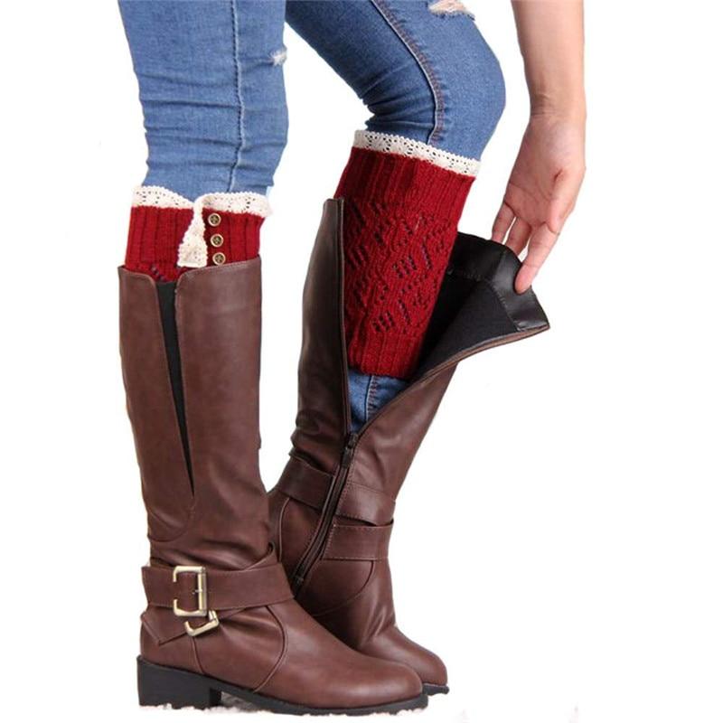 snowsong #5003 Women Lace Stretch Boot Leg Cuffs Boot Socks free shipping