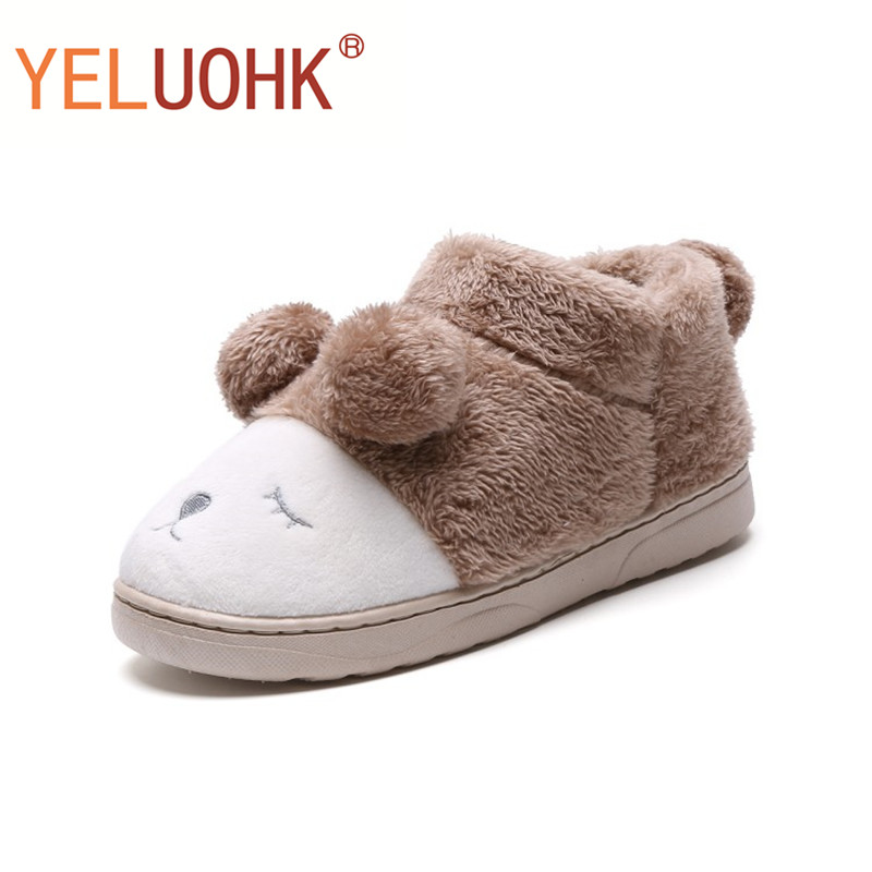 Plush Slippers Animals Winter Home Slippers Female Home Shoes For Women Slippers