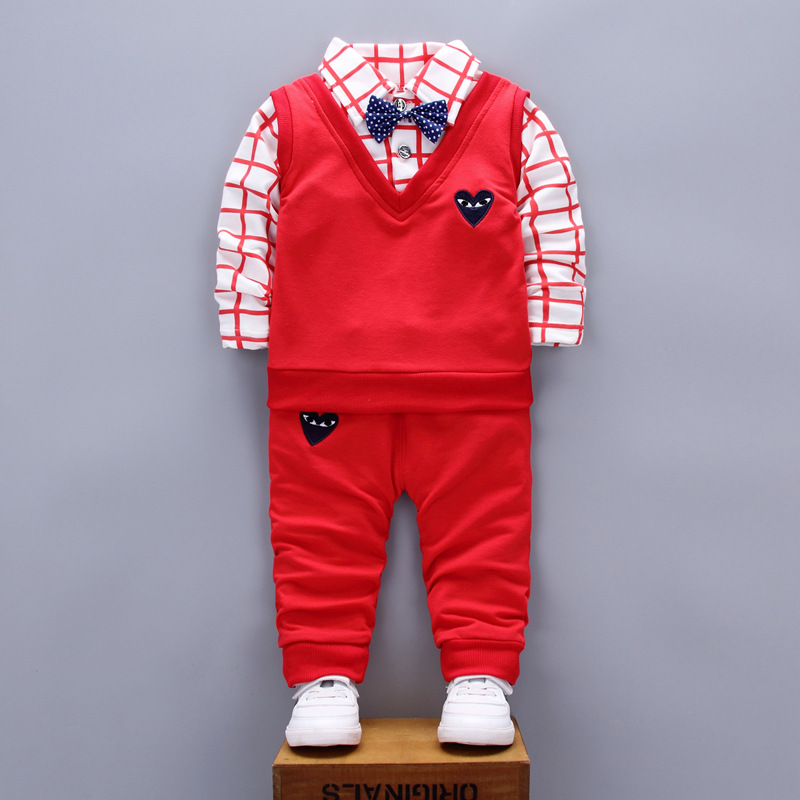 Spring Autumn Baby boy clothing sets kids clothes Children's boys high quality vest+t-shirts+pants christmas outfits  products new 2017 spring baby boy cartoon denim jacket t shirt pant clothing sets 3pcs kids spring autumn clothes sets boys jeans