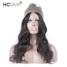 HCDIVA Body Wave Frontal 360 Lace Frontal Closure Pre Plucked Brazilian Closure With Baby Hair Human