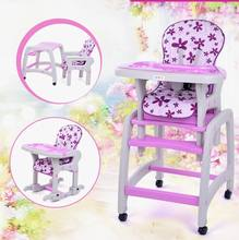 New design multifunction child baby dining chair +baby stool truckings rocking horse + writing desk for age 6 monthes – 10 years