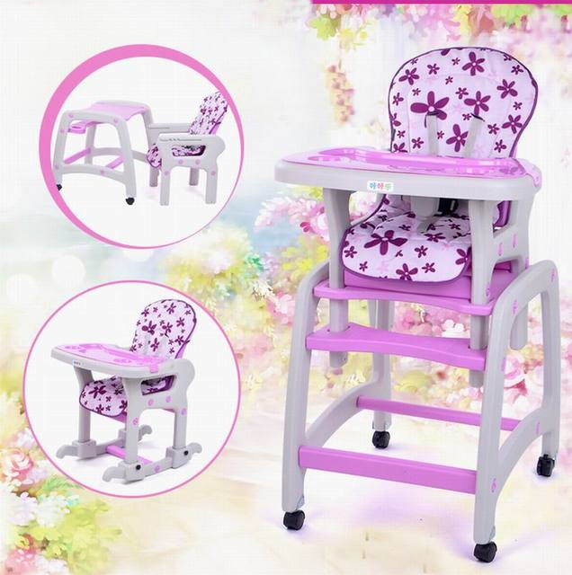 New design multifunction child baby dining chair +baby stool truckings rocking horse + writing desk for age 6 monthes - 10 years